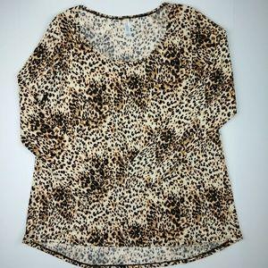Lularoe Leopard Animal Print Lynnae Long Sleeve